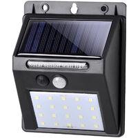Faretto pannello solare 30 led esterno sensore movimento crepuscolare