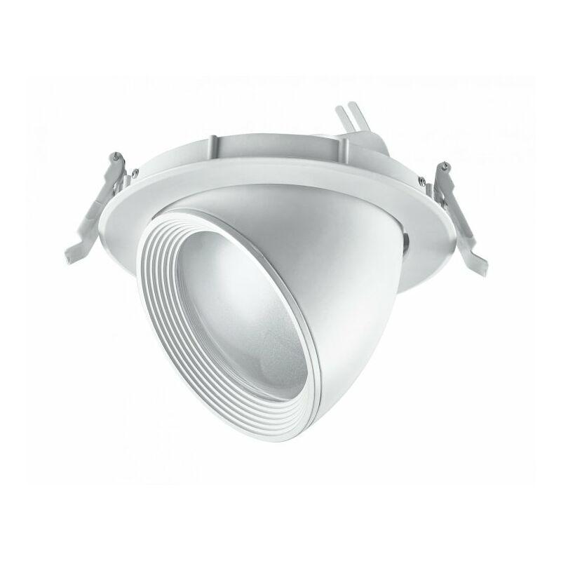 Faretto a incasso bianco orientabile con luci led 20 watt 3200 kelvin - SHOP-DAY