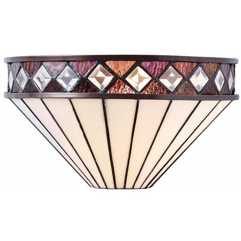 Image of 12-interiors 1900 - Fargo wall lamp, glass and metal