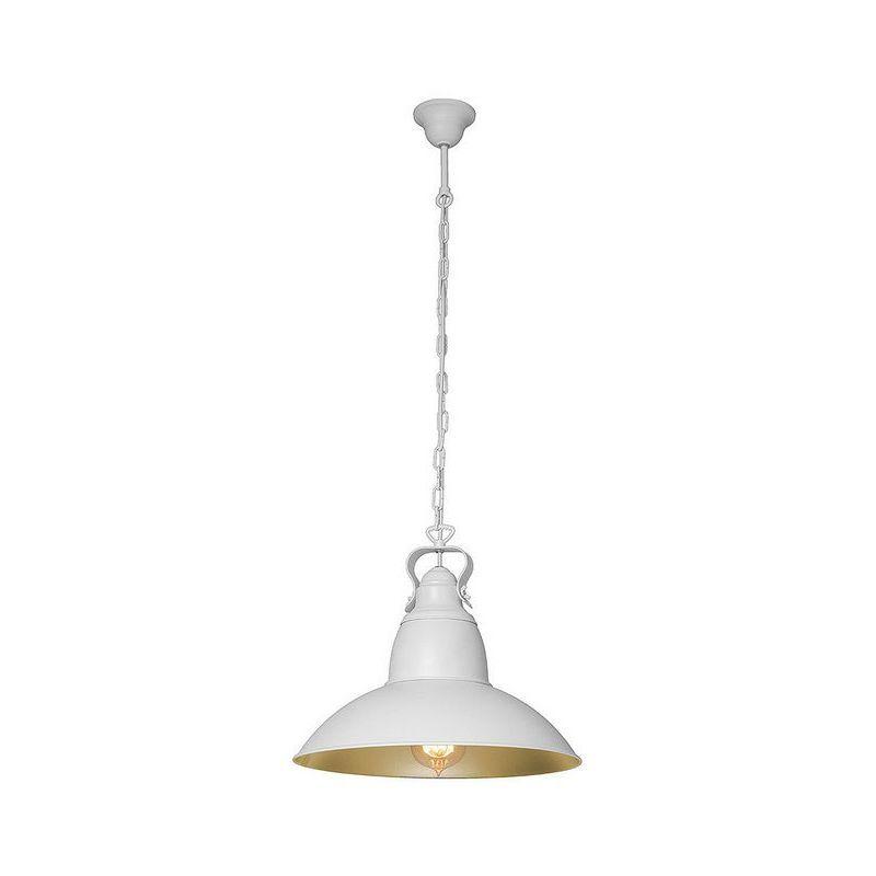 Farley Haengelampe - Kronleuchter - Deckenkronleuchter - Weiss, Gold aus Metall, 37 x 37 x 70 cm, 1 x E27, 60W