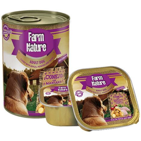 Farm Nature Conejo con Patatas, Manzana y Tomillo (Perros) 400 Gr