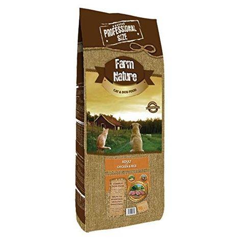 Farm Nature Pienso seco para Perros. FN Pollo con Arroz - Todas Las Razas - 18 kg