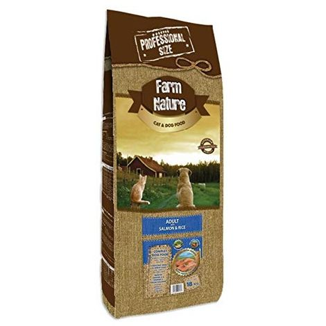 Farm Nature Pienso seco para Perros. FN Salmón con Arroz - Todas Las Razas - 18 kg