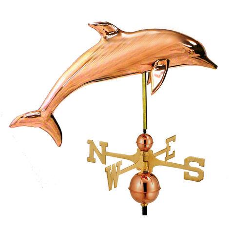 Farmhouse Copper Dolphin Weathervane