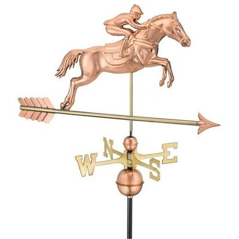 Farmhouse Copper Jumping Horse Weathervane