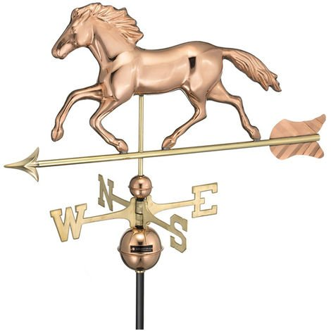 Farmhouse Copper Running Horse Weathervane