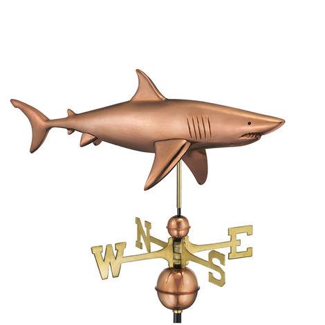 Farmhouse Copper Shark Weathervane
