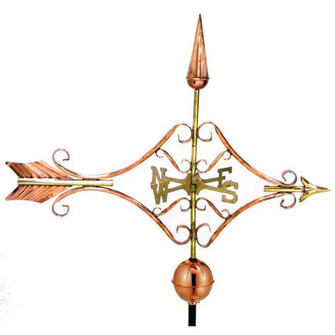 Farmhouse Copper Victorian Arrow Weathervane