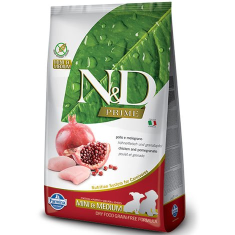 Farmina N&D Grain Free Chicken & Pomegranate Puppy Mini & Medium for Dogs Farmina N&D