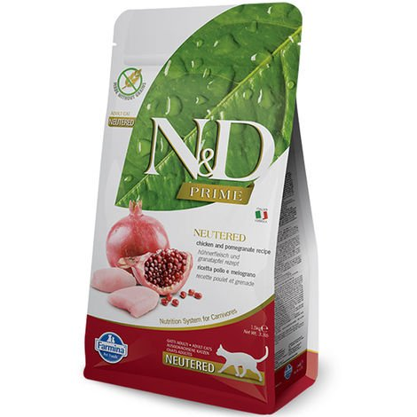 Farmina N&D Grain Free Neutered Chicken and pomegranate for cats Farmina N&D
