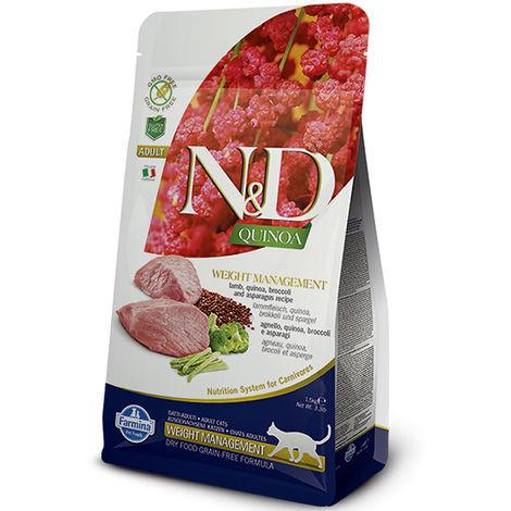 Farmina N&D Quinoa Grain Free Weight Management agnello Adult per gatti 1,5 kg Farmina N&D