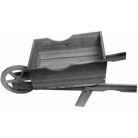 Farmyard style wooden wheelbarrow planter