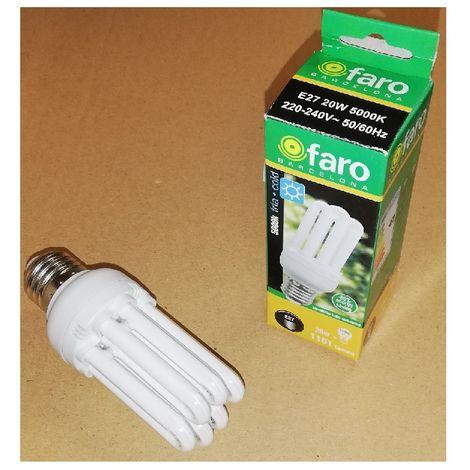 Faro 16593 Bombilla E27 20W (= 100W) 1151LM - 5000K