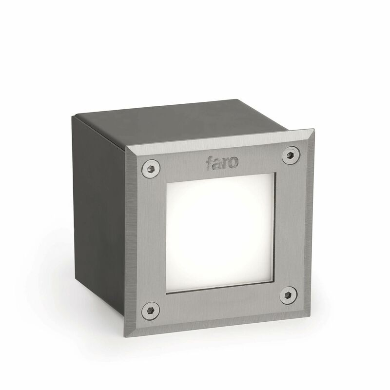 Image of Faro-18 71497N - LED Square Recessed Outdoor Ground Light Matt Nickel IP67