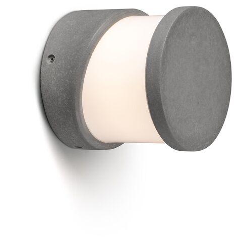 FARO 74139   Aplique sobremuro cemento BLOCK 1xE27 15W gris