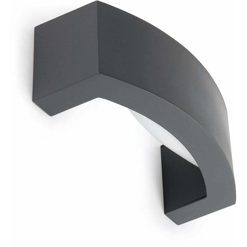 Image of 08-faro - Ancora 1-Light Dark Gray Garden Wall Sconce