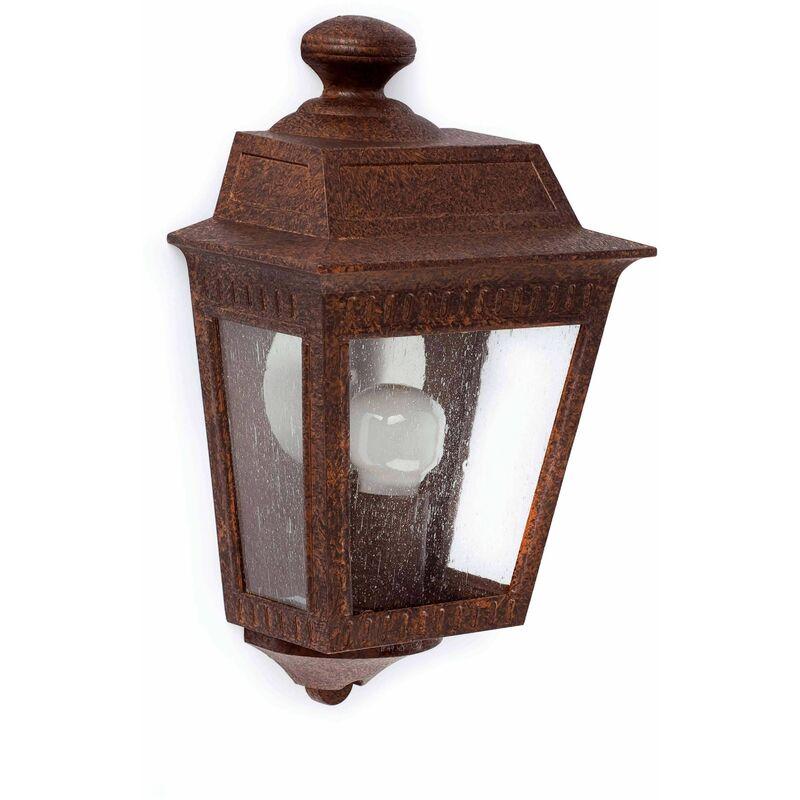 Image of 08-faro - Argot dark brown garden wall light 1 bulb