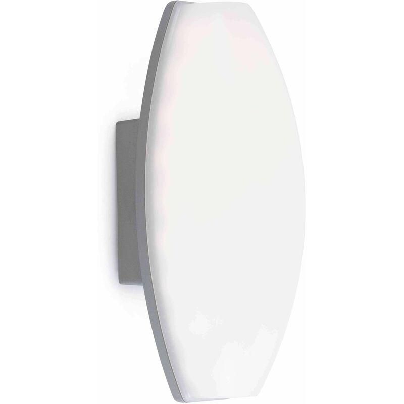 Image of 08-faro - Baco white garden wall lamp