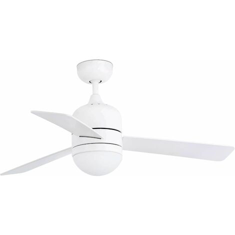 Faro Cebu - 2 Light Small Ceiling Fan White, Maple with Light, E14