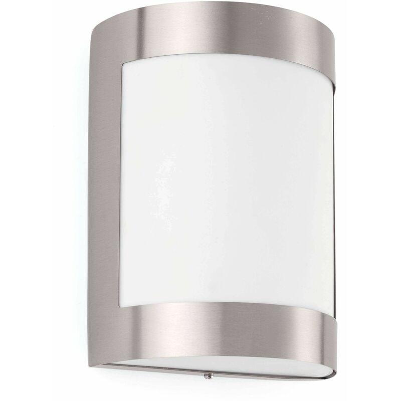 Image of 08-faro - Ceh22 matt nickel garden wall light 1 bulb