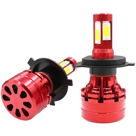 Faro del coche LED Kit H4 6000K Foglight bulbo blanco de la linterna, H4 X9