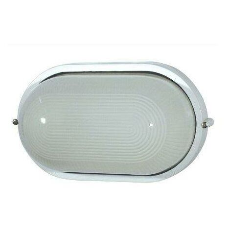 Faro Derby-P - 1 Light Outdoor Bulkheads White IP44, E27