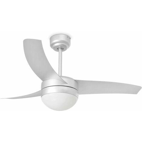 Faro Easy - 2 Light Small Ceiling Fan White with Light, E27