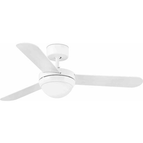 Faro Feroe - 2 Light Small Ceiling Fan White, Maple with Light, E14