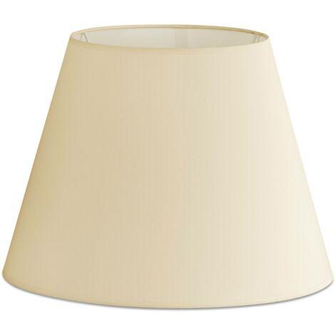 Faro - Floor Lamp Beige Tapered Shade