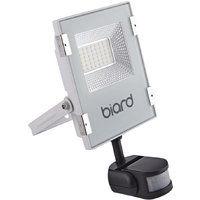 9bb859e00459b Faro Foco Proyector Biard Extra Plano LED de Seguridad IP65 Blanco 20W con Sensor  Crepuscular de
