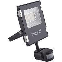710d6382ff332 Faro Foco Proyector Biard Extra Plano LED de Seguridad IP65 Negro 20W con Sensor  Crepuscular de