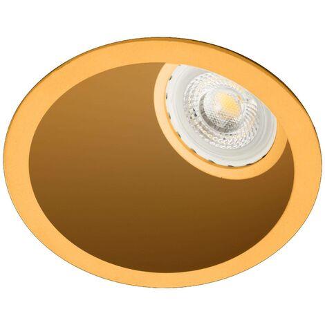 Faro Fresh - Round Gold Ceiling Light GU10