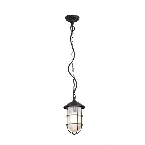 Faro Honey - Outdoor Pendant Lantern Black 1x E27 IP54
