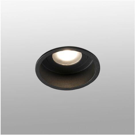 "main image of ""Faro Hyde - Black round Recessed Downlight IP44, GU10"""