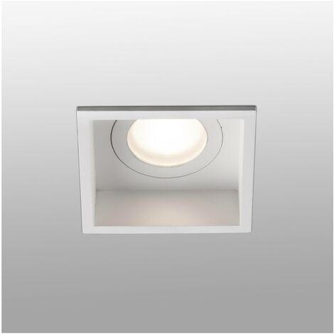 "main image of ""Faro Hyde - White square Recessed Downlight IP44, GU10"""
