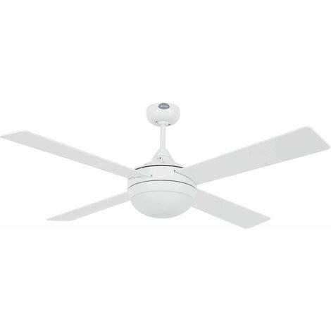 Faro Icaria - 2 Light Large Ceiling Fan White with Light, E27