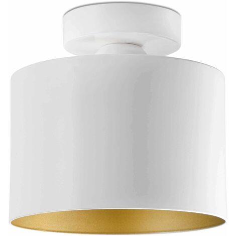 Faro Janet - 1 Light Semi Flush Ceiling Light White, Gold, E27