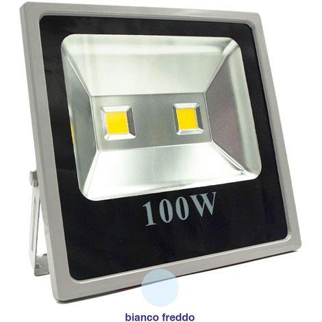 FARO LED 100 WATT 100 W ESTERNO IP65 LUCE FREDDA ILLUMINAZIONE PER ESTERNO