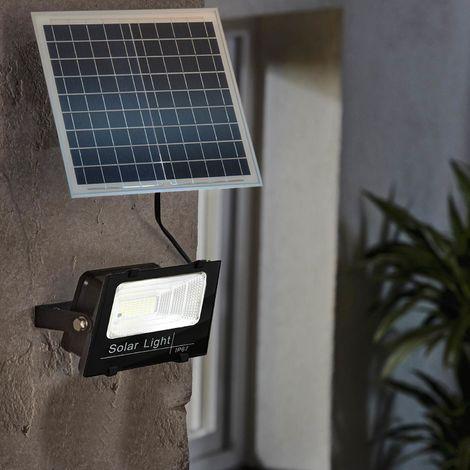 """main image of """"Faro Led 100W Con Pannello Solare Crepuscolare IP67 + Telecomando"""""""
