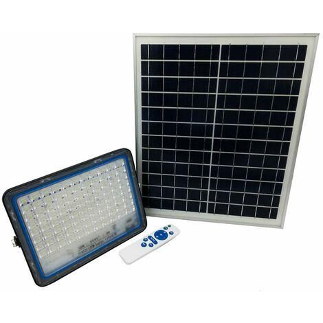 Faro led 120W con pannello solare luce fredda faretto led casa giardino esterno