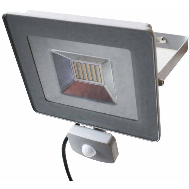 Faro LED 30W Luce Alta Luminosita 3700lm Faretto esterno con Sensore Movimento - BAKAJI