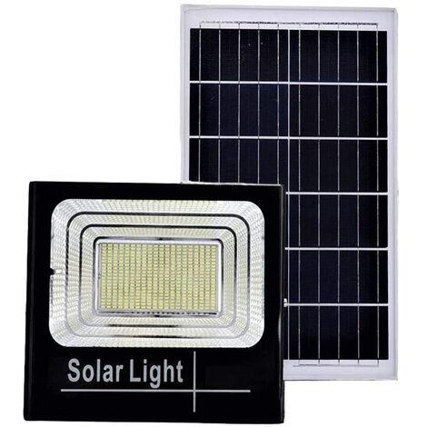 Faro led 60W luce fredda pannello solare XJ8860 crepuscolare giardino esterno