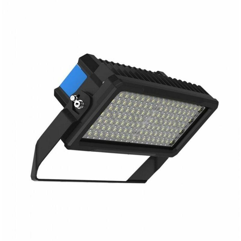 Faro LED Chip Samsung 250W con Driver MeanWell Colore Nero e Blu 120° 6000K Dimmerabile IP65 - V-tac