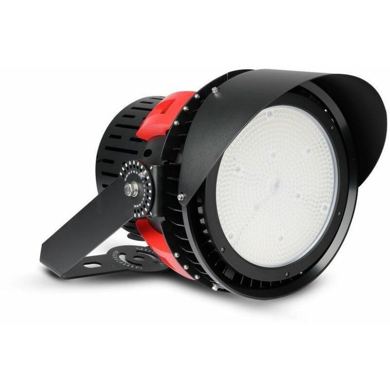 Faro LED Chip Samsung 500W con Driver MeanWell Colore Nero e Rosso 45° 5000K Dimmerabile IP65 - V-tac