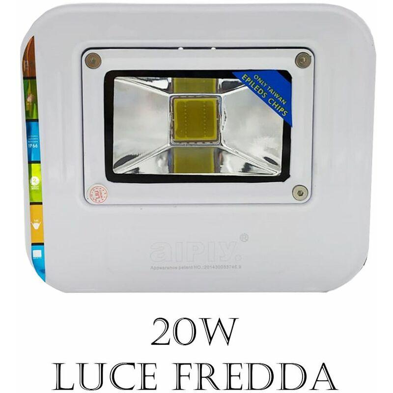 Faro led cob 20w luce fredda bianca faretto conchiglia esterno impermeabile ip66