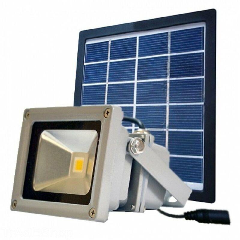 Faro led con pannello solare per illuminazione esterna con