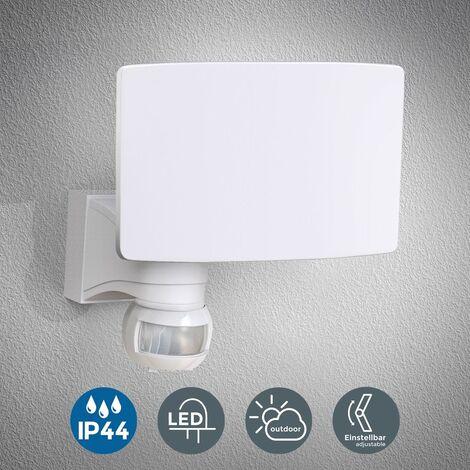 """main image of """"Faro LED esterno con sensore di movimento e crepuscolare, luce bianca naturale 4000K, luce di sicurezza con accensione automatica, 20W, IP44, lampada da parete, faretto bianco, 230V"""""""