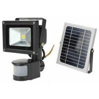 Faro led faretto alta luminosita' pannello solare crepuscolare telecomando 30w