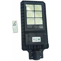 Faro led lampione stradale 180W pannello solare luce fredda telecomando FO99180