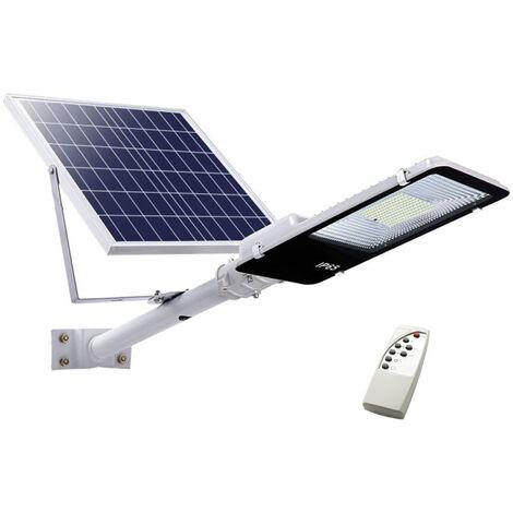 Faro led lampione stradale 200W luce fredda pannello solare staffa crepuscolare